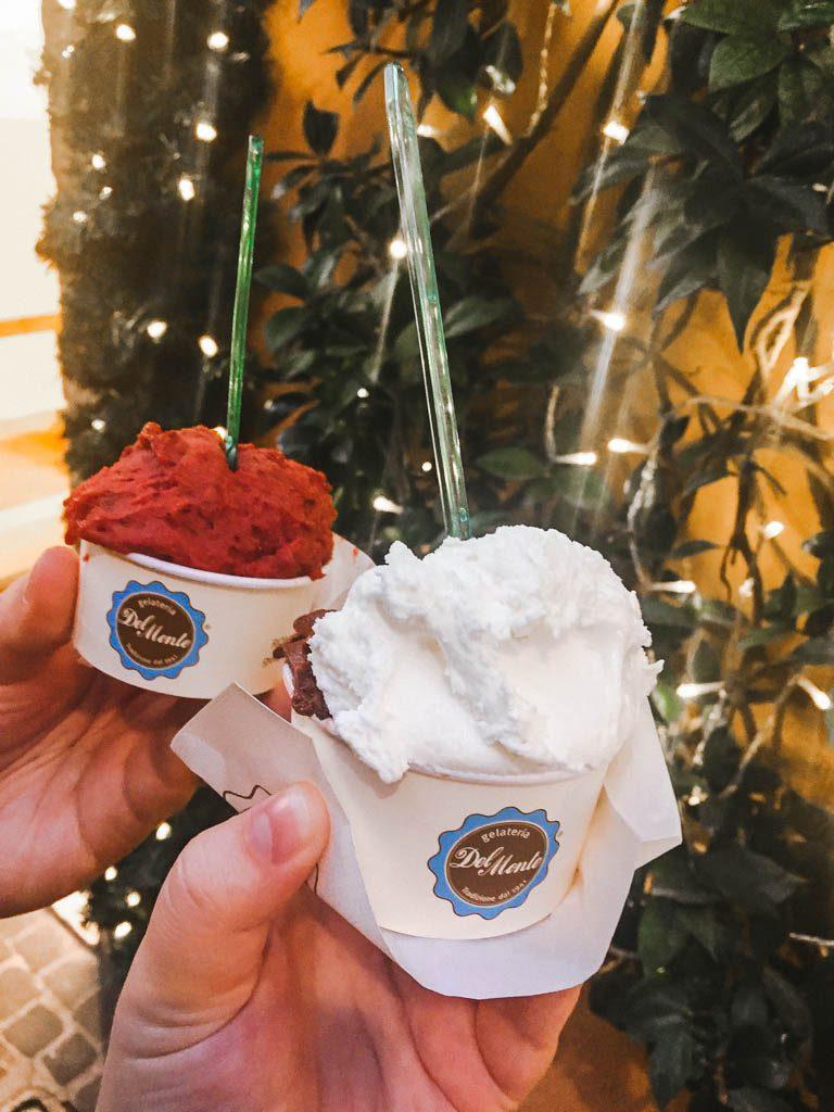 Del Monte gelato in Rome