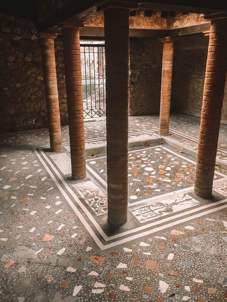 Tile work in Pompeii