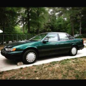 My old car Derek, a 1994 Taurus that kicked the bucket this June.