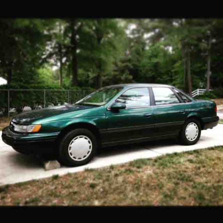 My old car Derek, a 1994 Taurus that kicked the bucket this June.