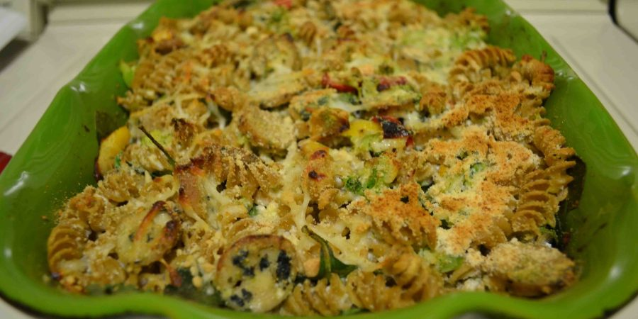 Sausage Pasta Bake is a way to pack veggies into comfort food!