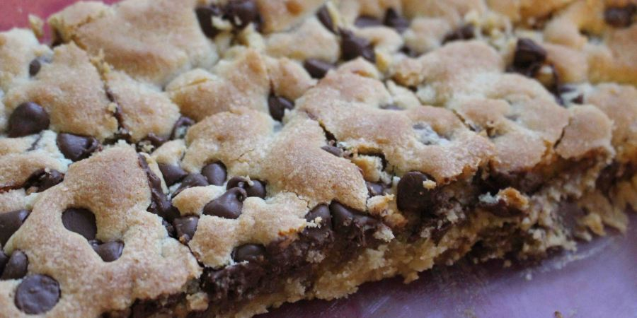 Chocolate Chip Cookie Bars have got to be the ultimate comfort food!