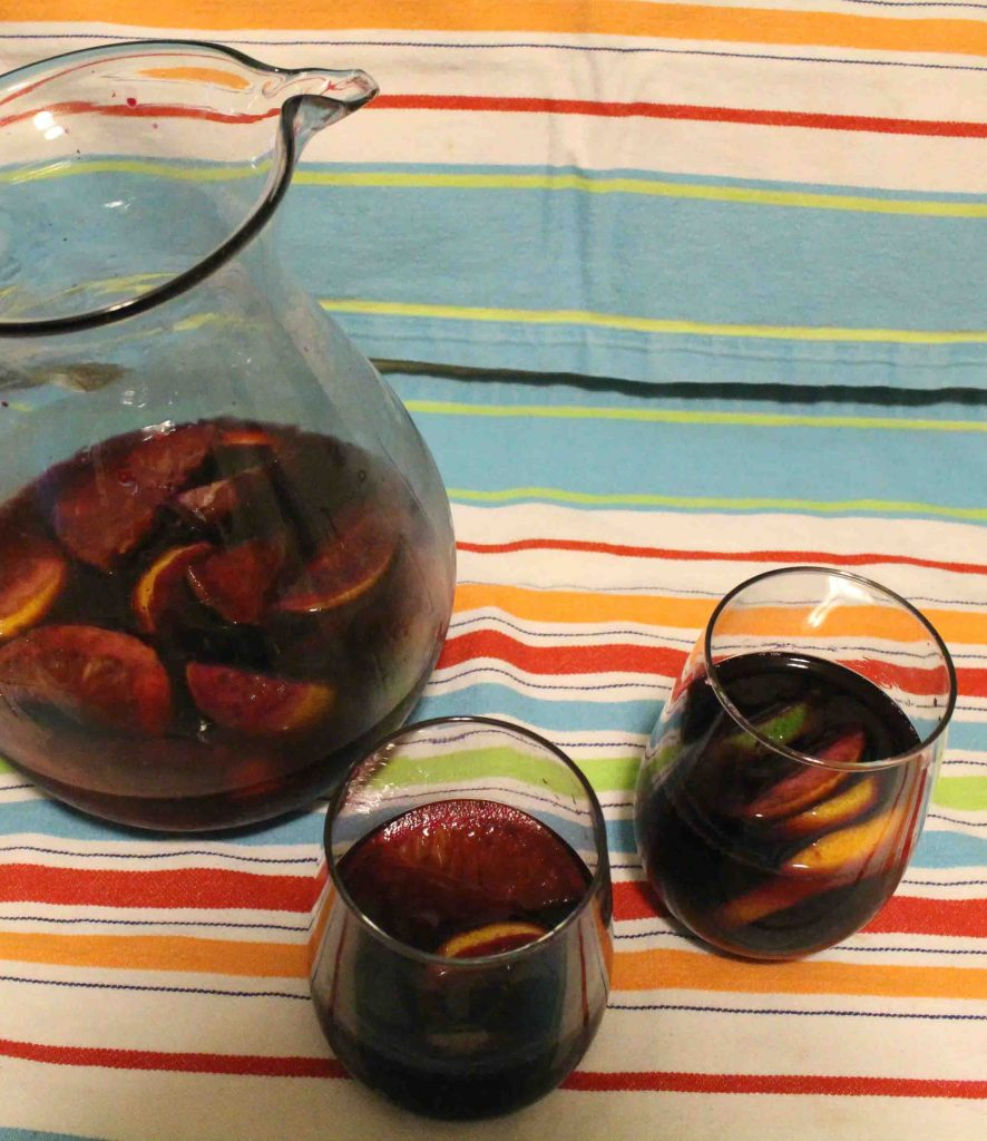This sangria is a classic red wine cocktail that's perfect for a summer day or a girls' night! | Teaspoon of Nose