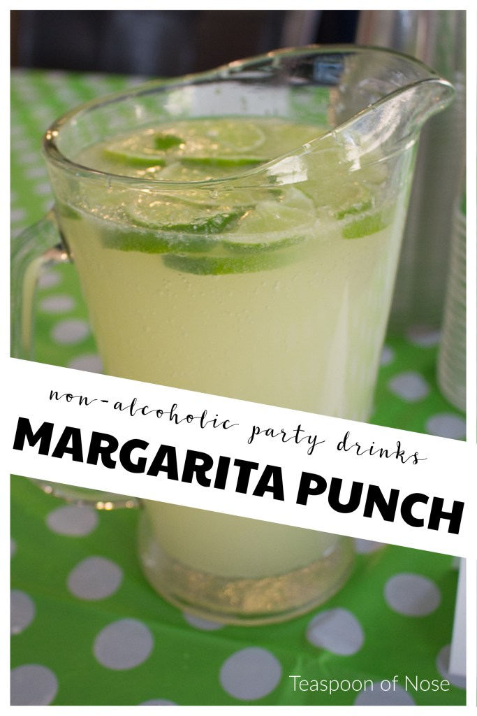 This margarita mocktail makes the perfect nonalcoholic punch for any shower or party! | Teaspoon of Nose