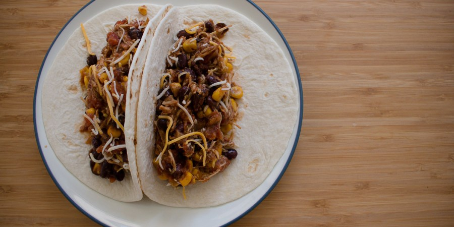 Can dinner get easier than crockpot chicken tacos?
