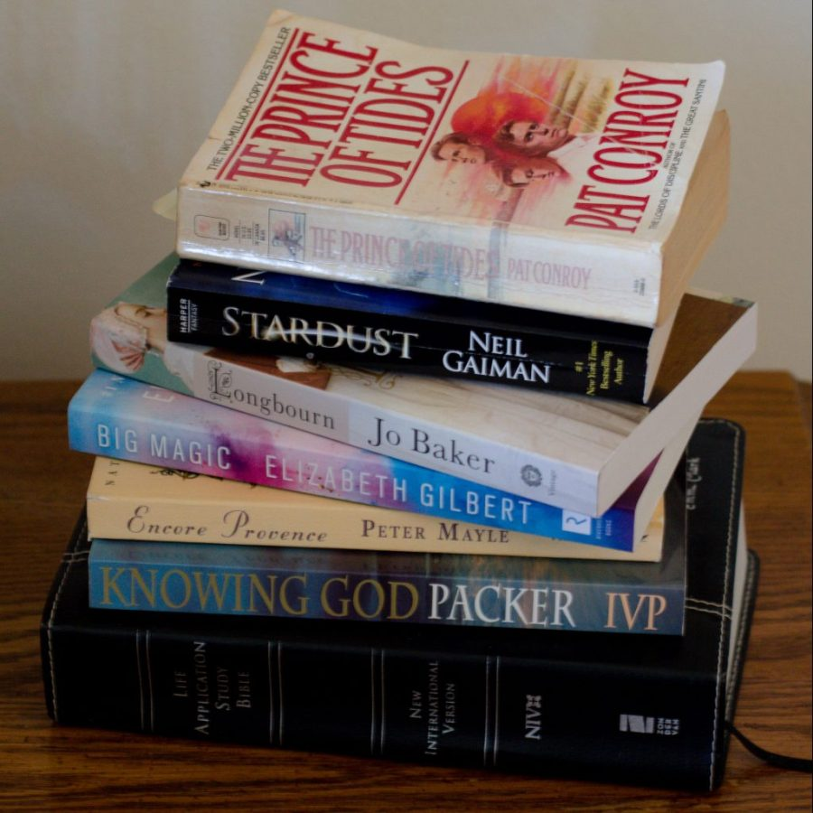 My reading list right now - I love books!