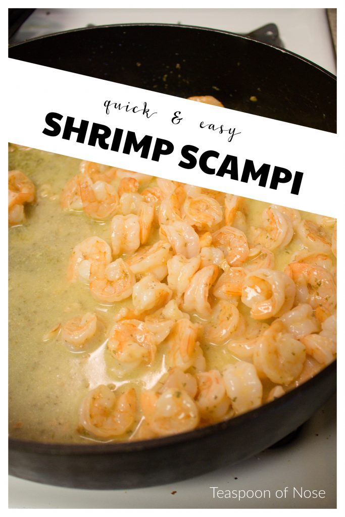 This shrimp scampi is so much easier than I realized to make! And completely delicious. I'm hooked.