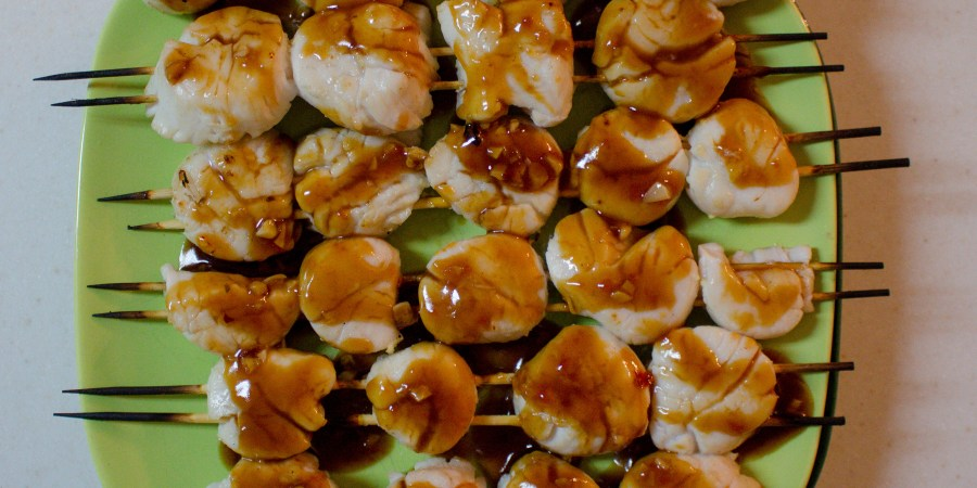 Grilled sweet & sour scallops are the perfect summer meal, and are fancy enough to impress any guest!