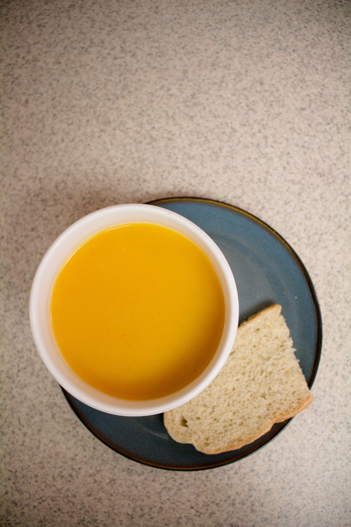 This butternut squash soup is the PERFECT lunch on a cold day! It's both hearty and healthy, and it's Whole30 approved! | Teaspoon of Nose