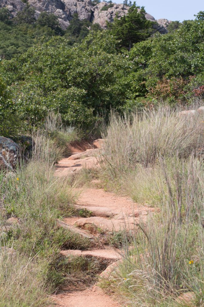 If you're looking for hiking in southwest Oklahoma, try the Wichita Mountains Wildlife Refuge. The Charons Garden trail is long enough for a solid hike and ends in beautiful views!   Teaspoon of Nose