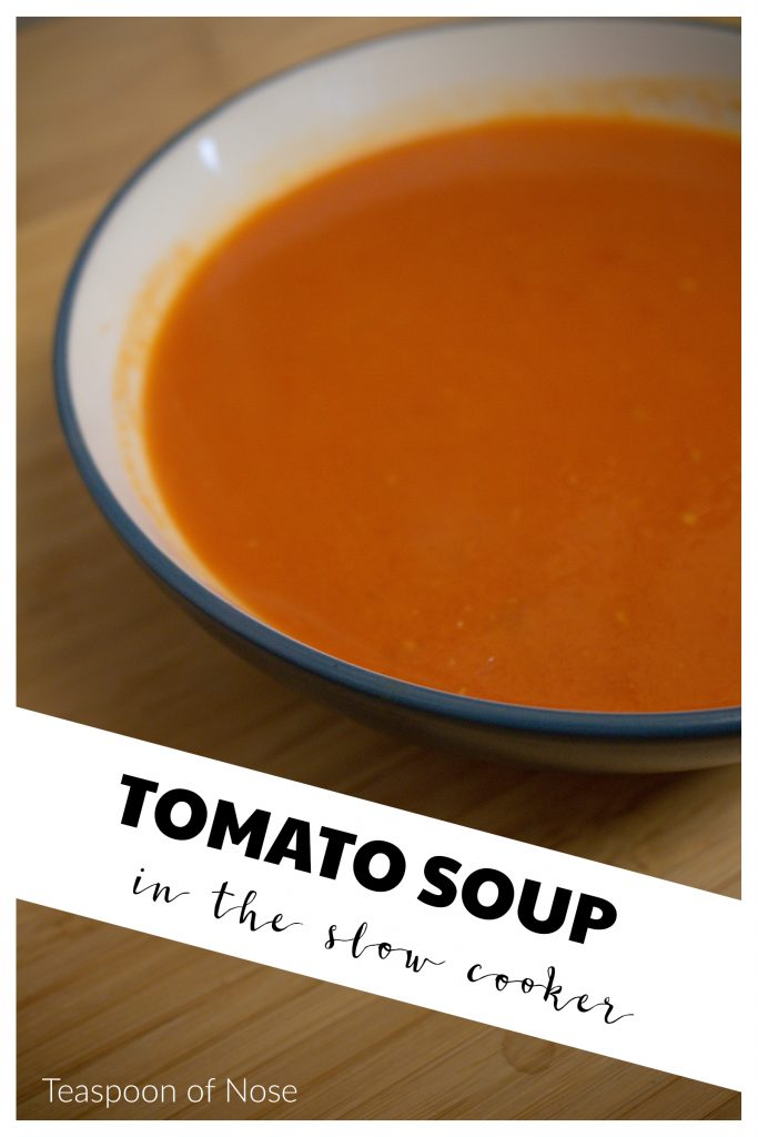 If you need an easy tomato soup, look no further than this classic slow cooker recipe! | Teaspoon of Nose