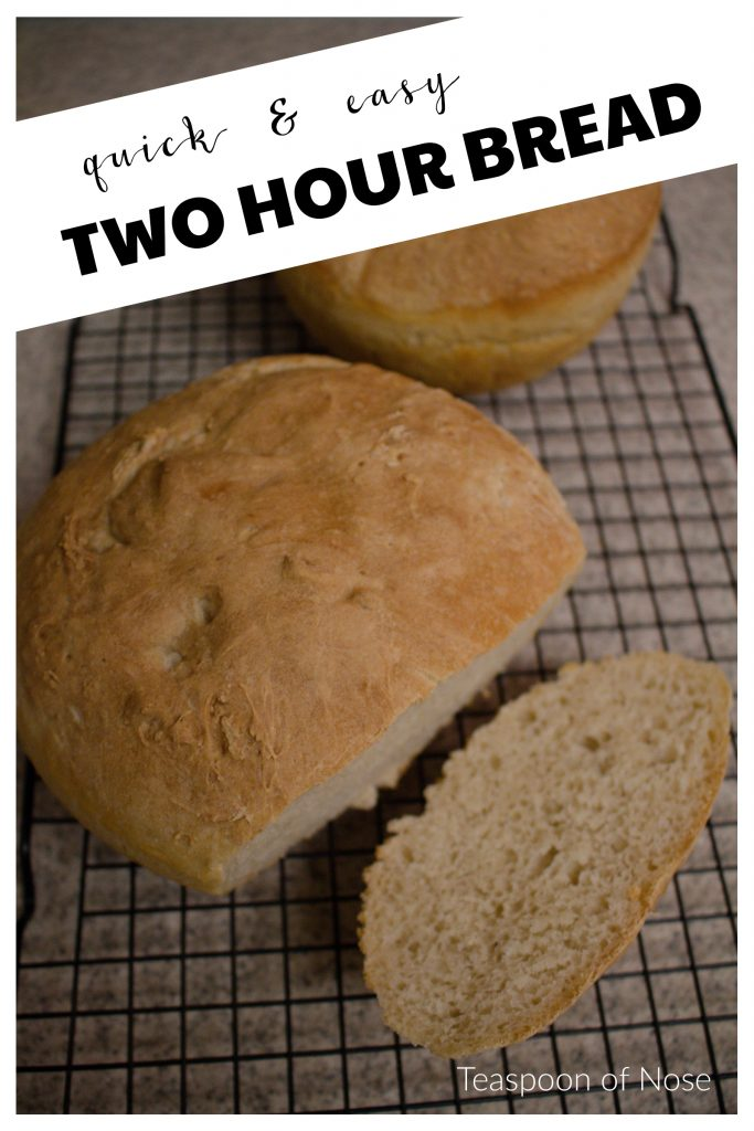 This easy bread recipe is simple to pull together and doesn't need a day to rise! | Teaspoon of Nose