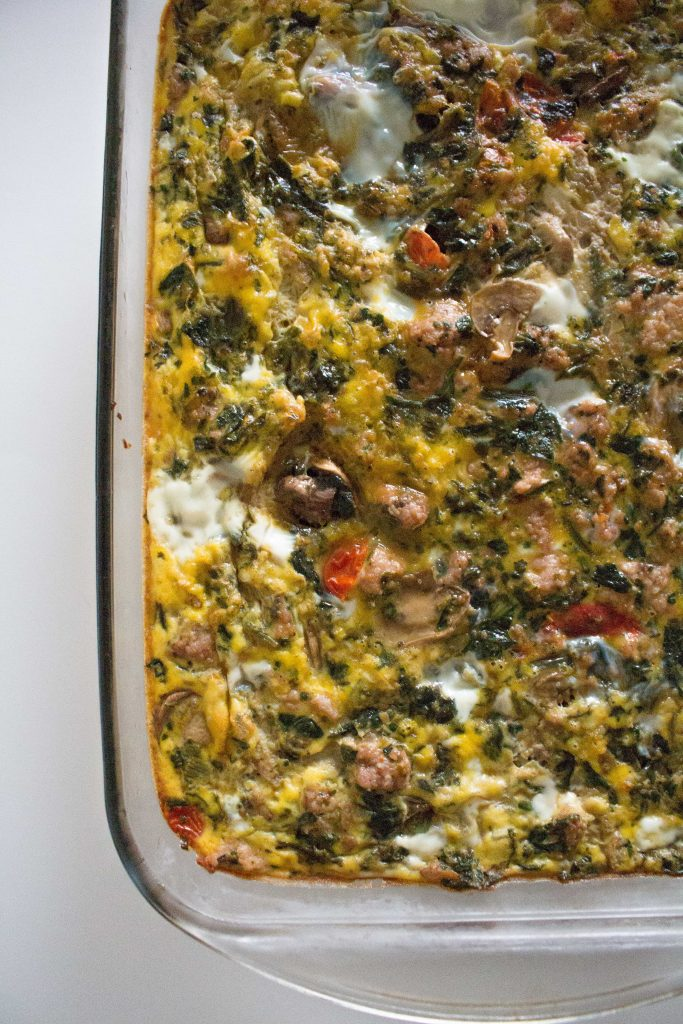 This Whole30 spinach egg bake is an easy win for your next brunch, baby shower, or overnight guests!   Teaspoon of Nose
