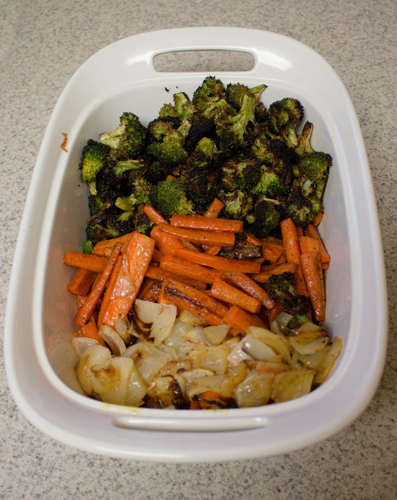 These roasted vegetables have become a weeknight staple for us. It's our favorite way to eat vegetables!   Teaspoon of Nose