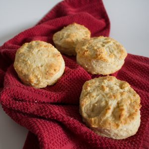 These cheese biscuits are flaky and perfect straight out of the oven!   Teaspoon of Nose