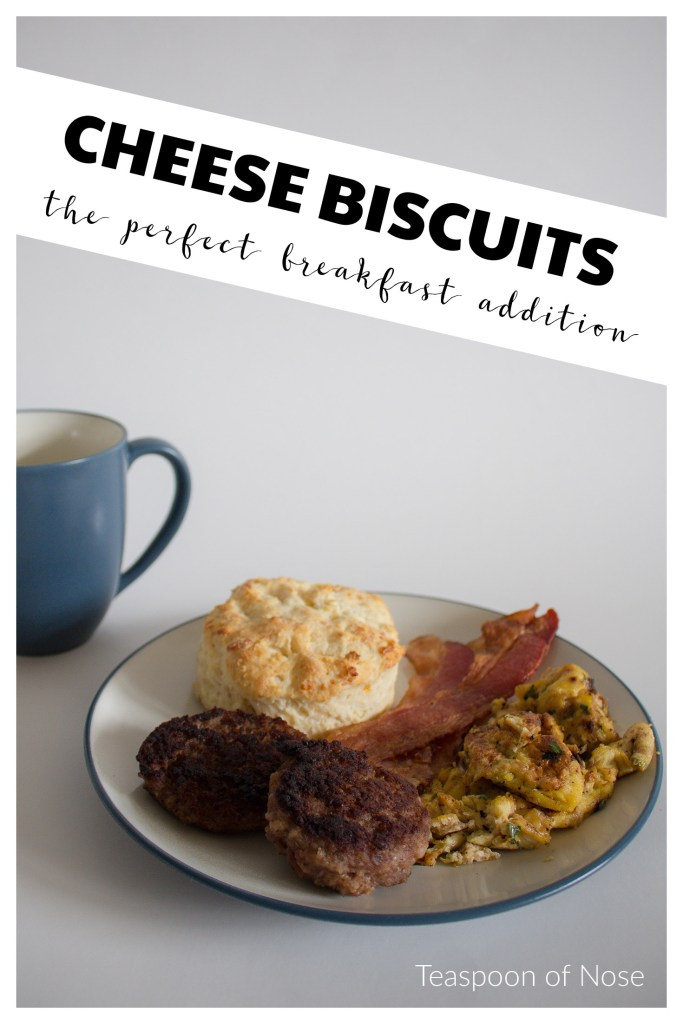 These cheese biscuits are flaky and perfect straight out of the oven! | Teaspoon of Nose