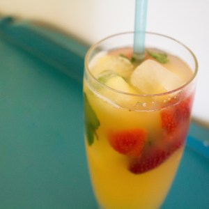 Pineapple strawberry punch makes the perfect mocktail for a summer afternoon! | Teaspoon of Nose
