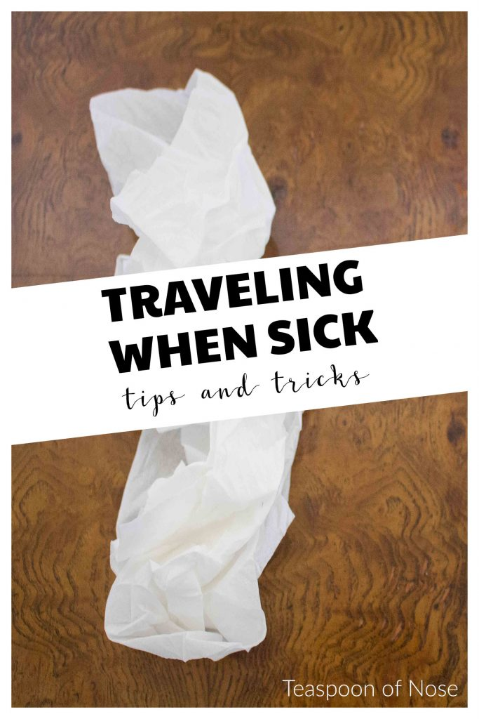 Getting sick when traveling SUCKS. Here's  few tips to help you prevent it, and recover if it does happen! | Teaspoon of Nose