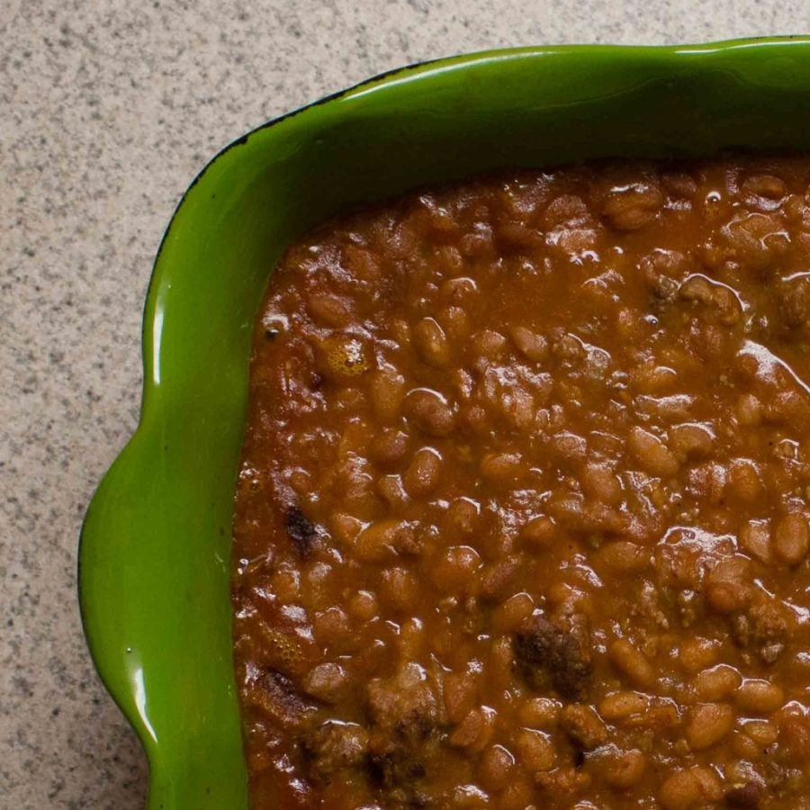 Hearty, filling, and easy: baked bean casserole! | Teaspoon of Nose