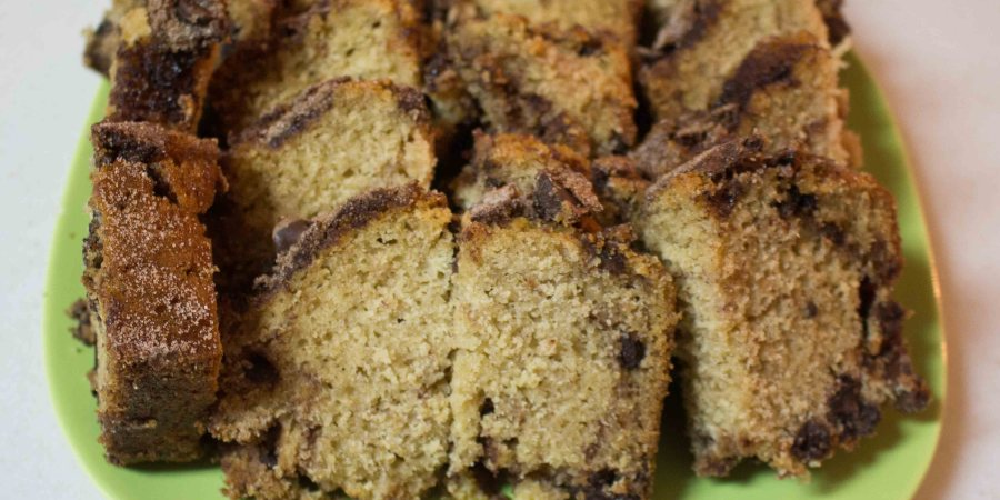 Cinnamon Chocolate Chip Bread is a decadent way to eat dessert for breakfast!   Teaspoon of Nose