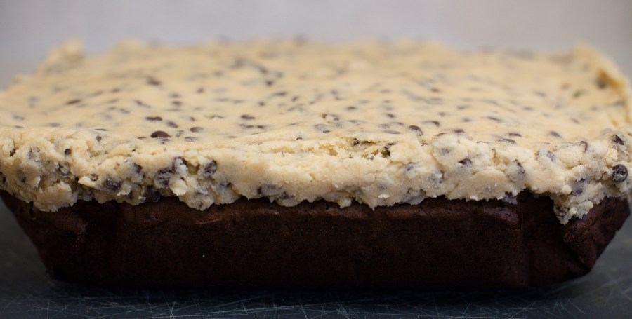 Cookie dough brownies are little pieces of dessert HEAVEN.   Teaspoon of Nose