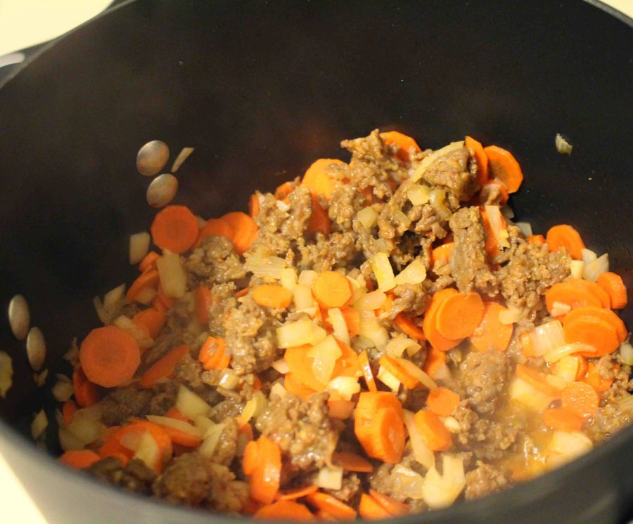 Tuscan Sausage Soup is hearty, delicious, and will feed an army!!  Teaspoon of Nose