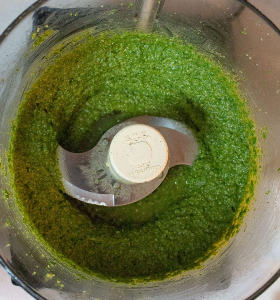 This quick and classic basil pesto tastes good on everything, and comes together in five minutes! | Teaspoon of Nose