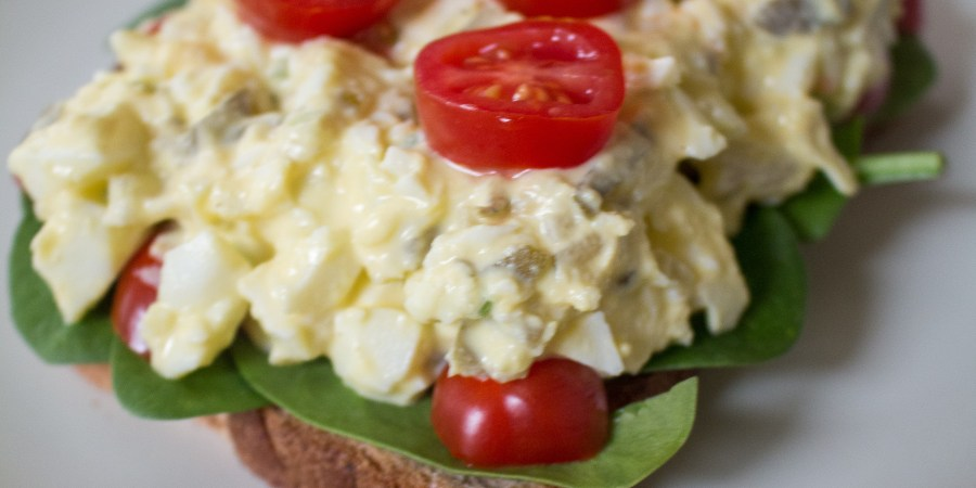 Egg salad is a super versatile summertime lunch option that fills you up without weighing you down! A great meal when it's too hot to use the oven.