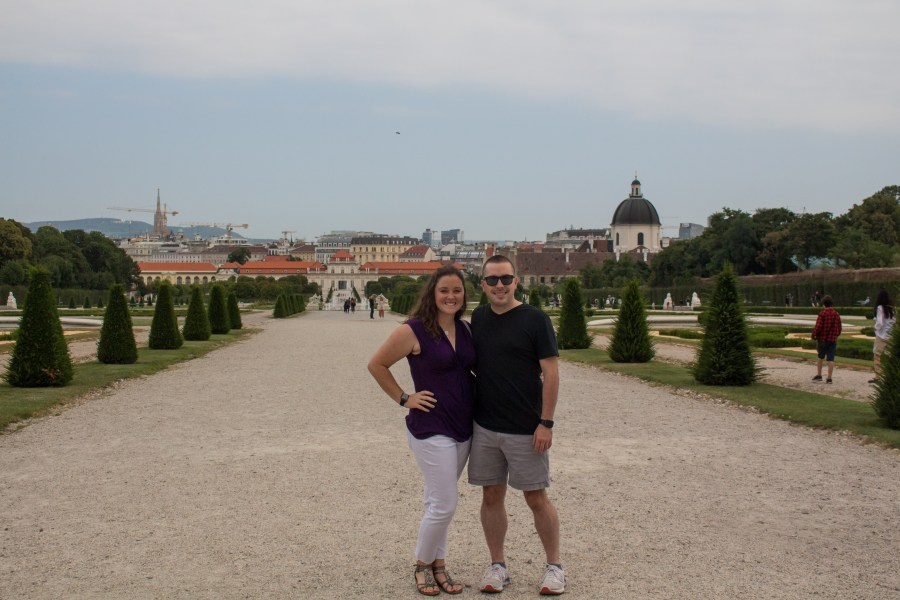 Belvedere Palace day in Vienna
