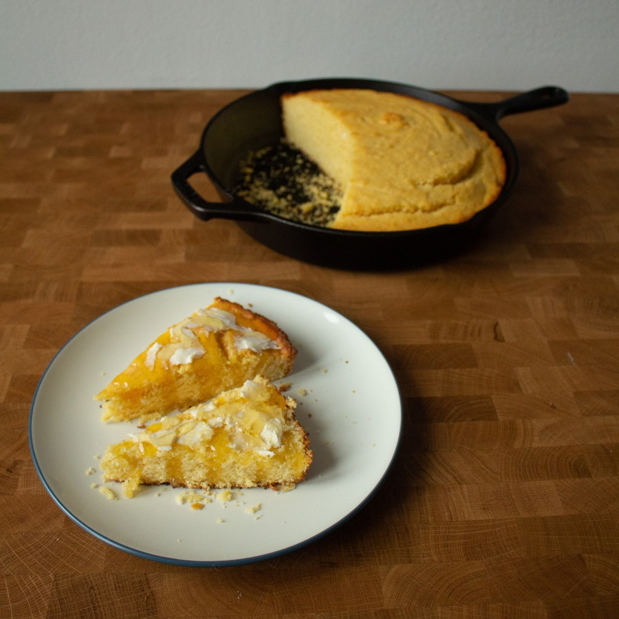 Skillet cornbread couldn't be simpler to make and is perfect for your Thanksgiving dinner!