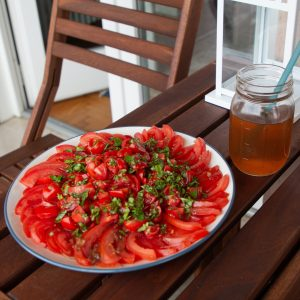 Tomato Salad is the perfect bite of summer!