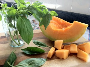 Cantaloupe and Basil