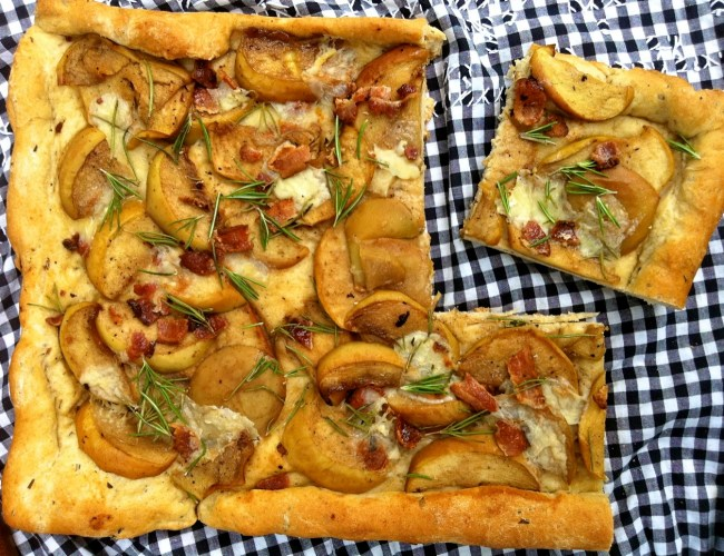 Apple Brie Bacon Foccacia