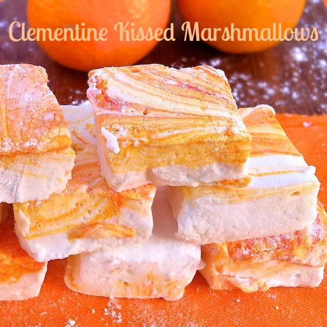 Clementine Kissed Marshmallows | TeaspoonofSpice.com