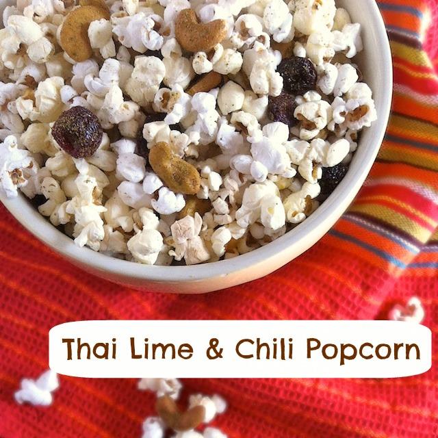 Thai Lime Chili Popcorn | TeaspoonofSpice.com