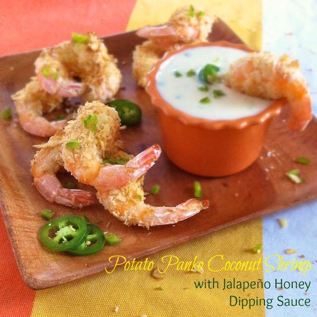 Potato Panko Coconut Shrimp | Teaspoonofspice.com