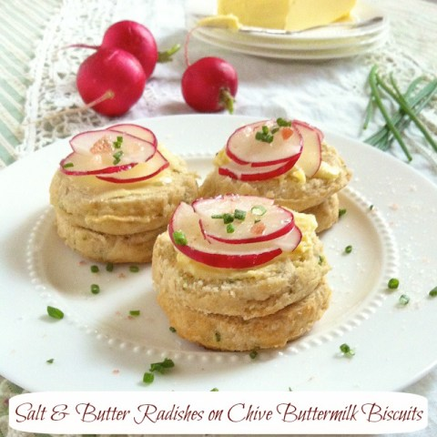 Salt Butter Radish Chive Biscuits | Teaspoonofspice.com