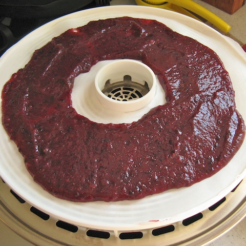 The trick to easy clean-up after making fruit leather. Just 4 simple ingredients: APPLE BLUEBERRY FRUIT LEATHER | @TspCurry