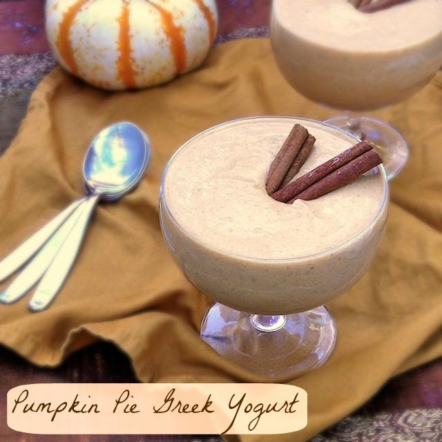 Pumpkin Pie Greek Yogurt | TeaspoonofSpice.com
