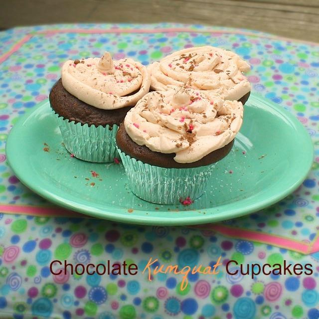 Chocolate Kumquat Cupcakes | TeaspoonofSpice.com