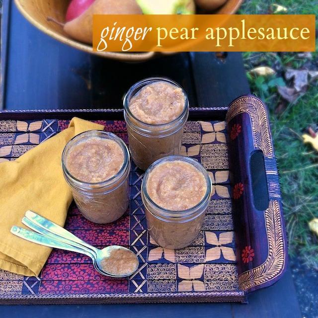 Ginger Pear Applesauce | TeaspoonofSpice.com