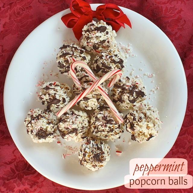 Peppermint Popcorn Balls pin | Teaspoonofspice.com