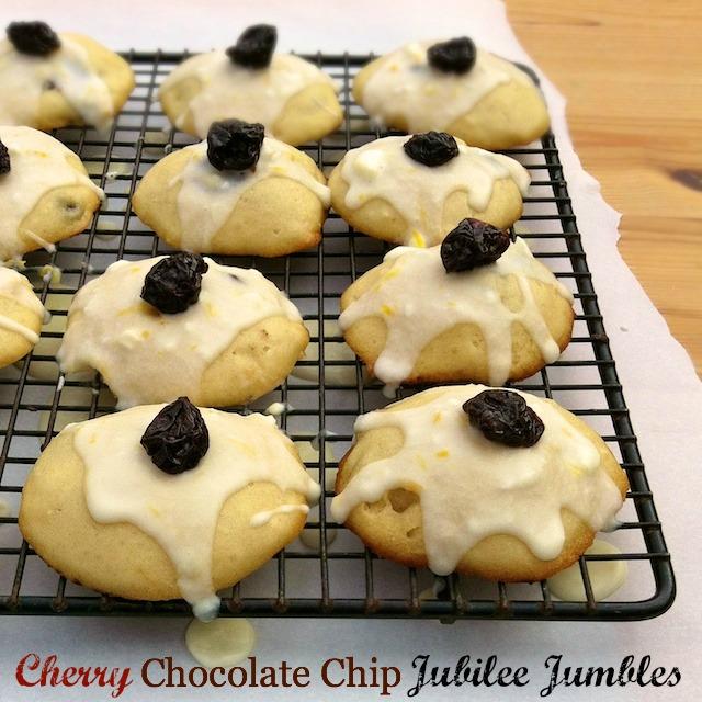 Cherry Chocolate Chip Jubilee Jumbles | Teaspoonofspice.com