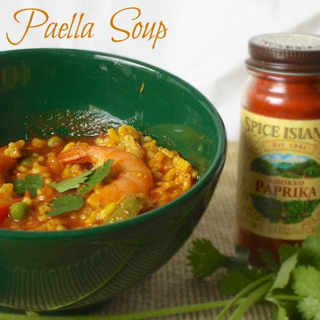 Paella Soup | Teaspoonofspice.com
