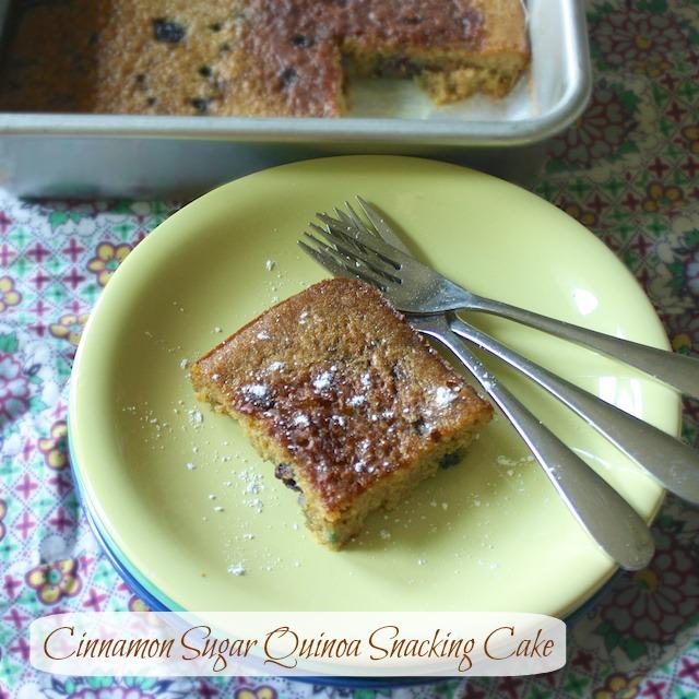 Cinnamon Sugar Quinoa Snacking Cake | Teaspoonofspice.com