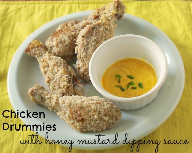 Chicken Drummies Honey Mustard Dipping Sauce | Teaspoonofspice.com