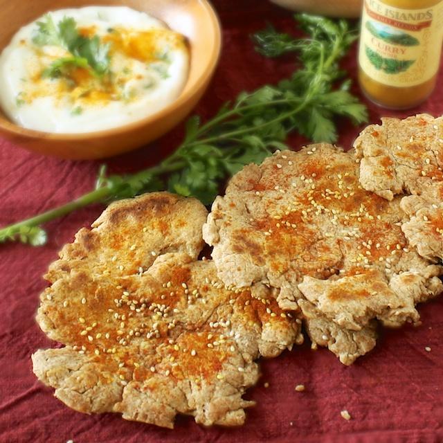 Flatbread with Sesame Seeds & Mustard Seeds | Teaspoonofspice.com