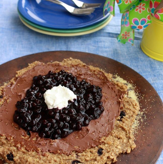 Blueberry Oatmeal Breakfast Pizza 2
