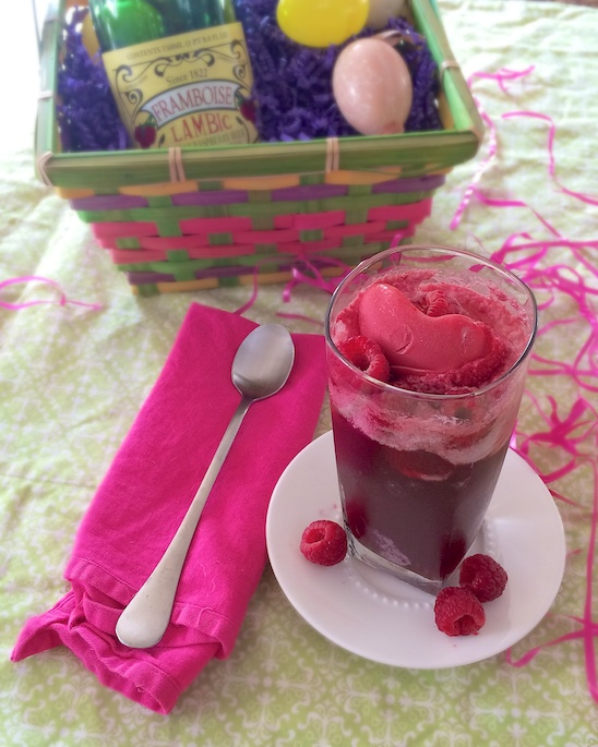 Raspberry Beer Float | Teaspoonofspice.com