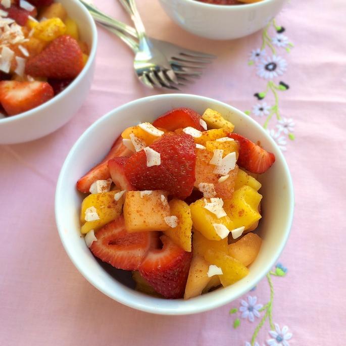 Strawberry Mango Pico de Gallo   Teaspoonofspice.com